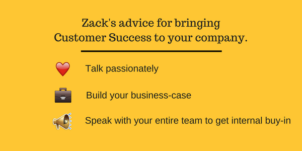 advice for customer success